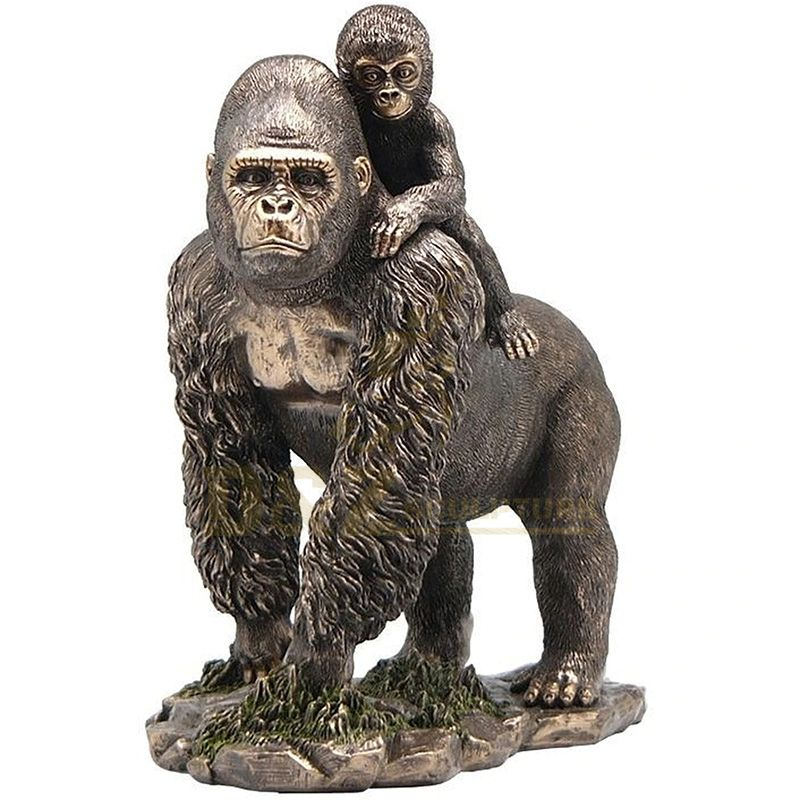 Park Decoration Antique Brass Gorilla Statue For Sale