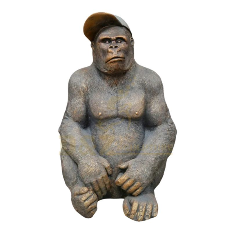 Outdoor Garden Casting Bronze Gorilla Statue For Sale