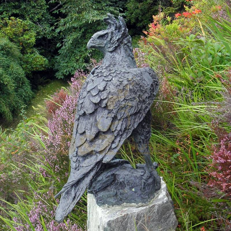 Hand Made Outdoor Decorative Life Size Brass Eagle Sculptures