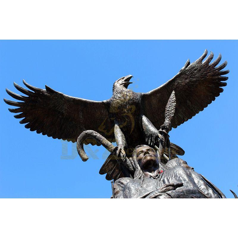 Casting Outdoor Bronze Eagle Sculpture