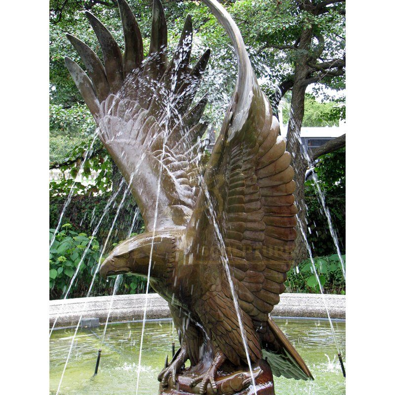 Life Size Bronze Brass Eagle Sculpture For Sale