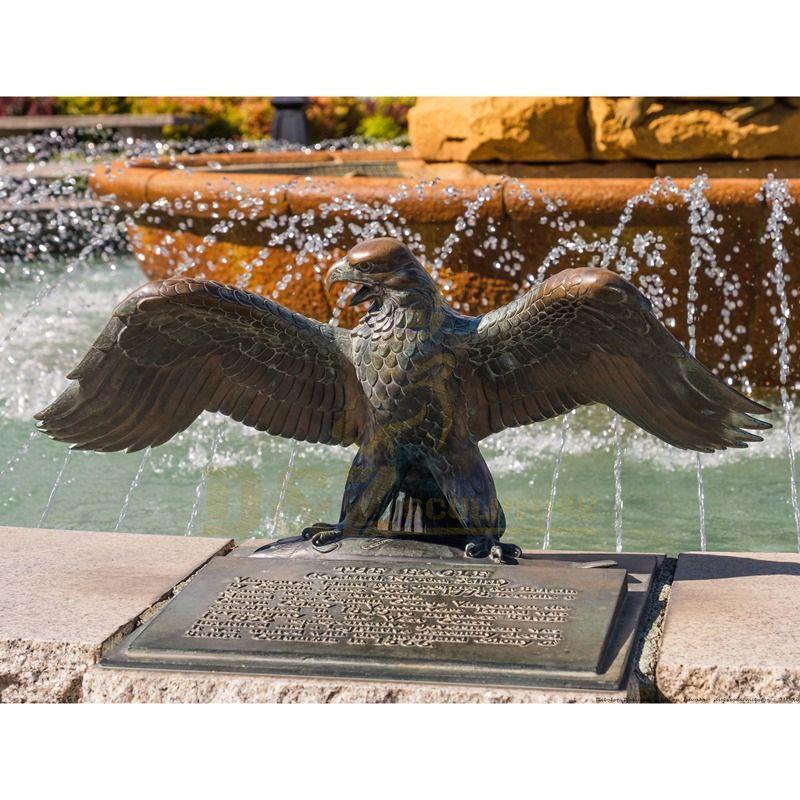 Life Size Custom Antique Cast Bronze Eagle Sculpture