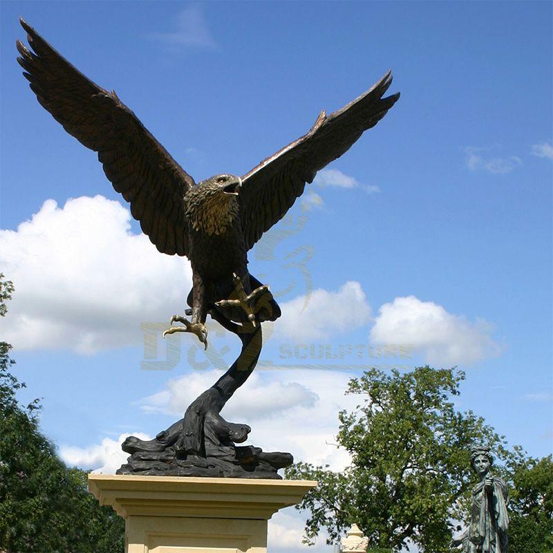 Life Size Bronze Eagle Statue Sculpture for Garden Decoration