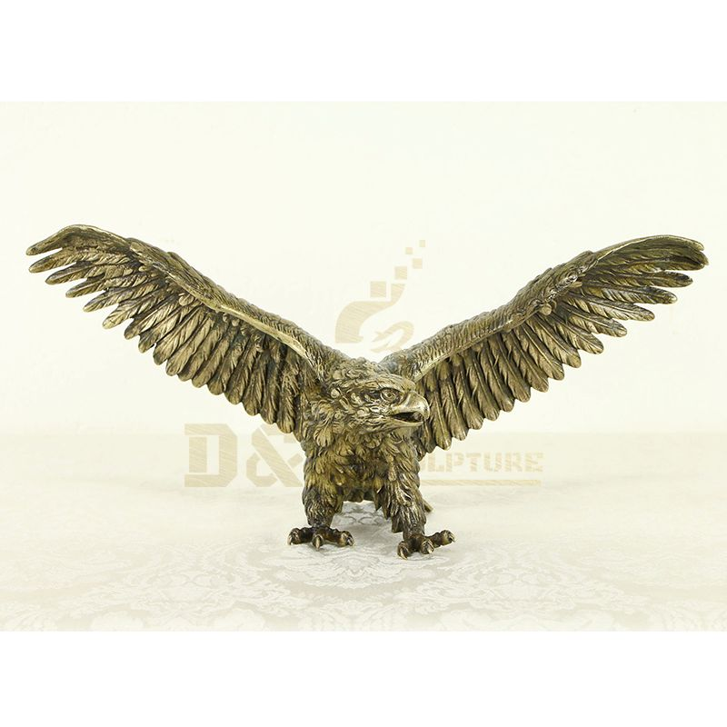 Chinese outdoor large bronze animal sculpture eagle statue