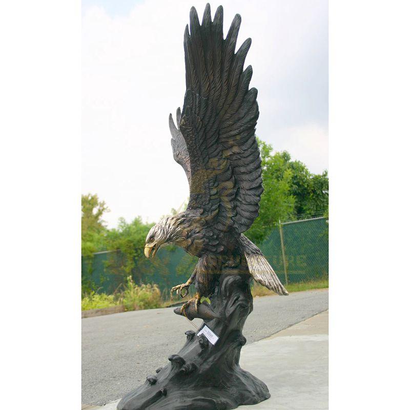Wholesale Bronze Metal Decoration Eagle Sculpture