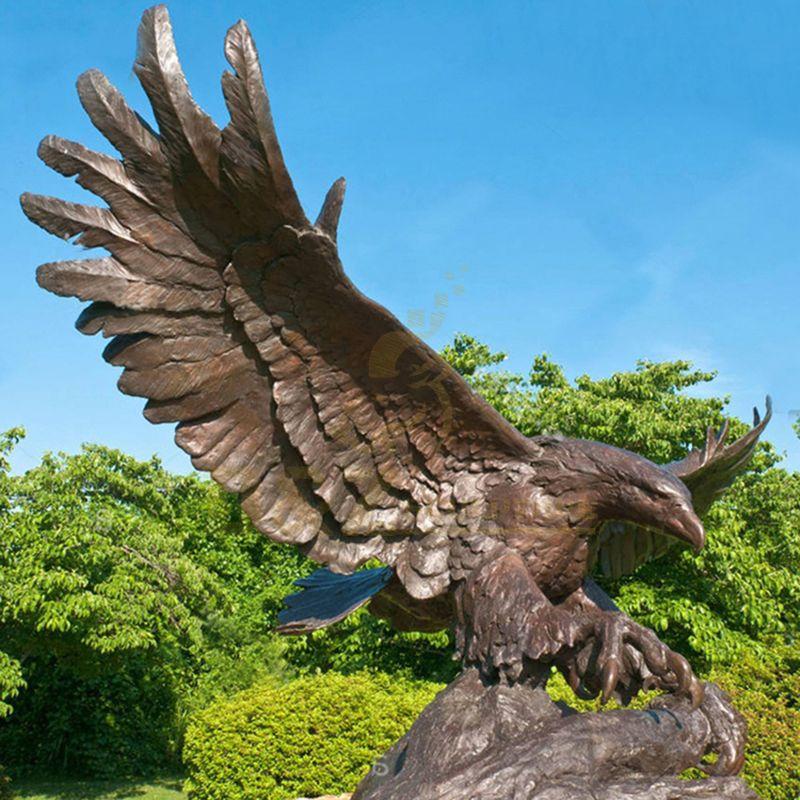 Large bronze eagle statue cast sculpture for sale