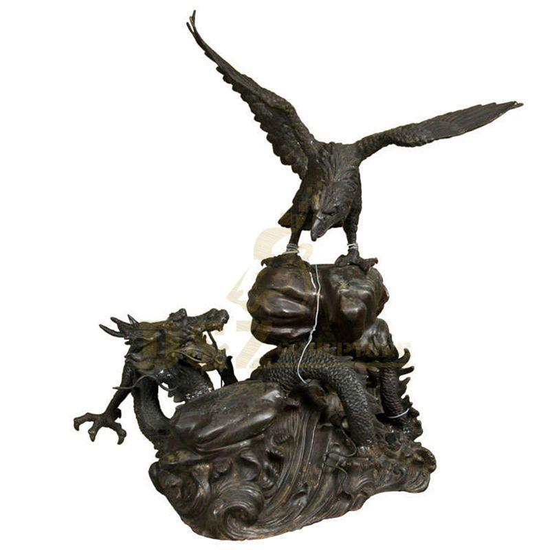 Popular garden decor bronze flying bird eagle sculptures
