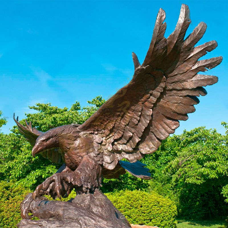 Custom Metal Craft Garden Sculpture Bronze Eagle Statue