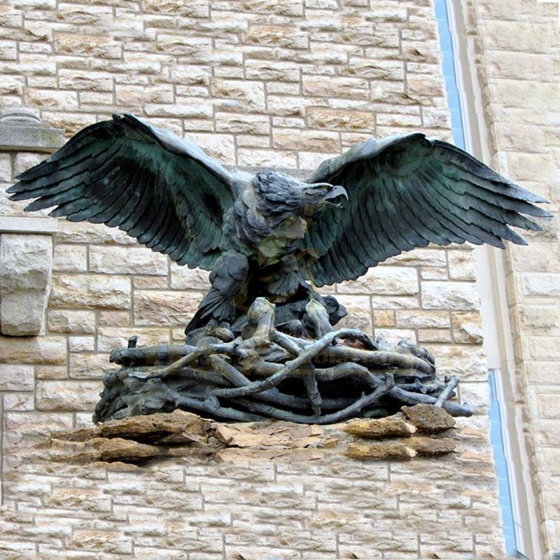 Outdoor Modern Wall Art Sculpture Bronze Eagle Sculpture