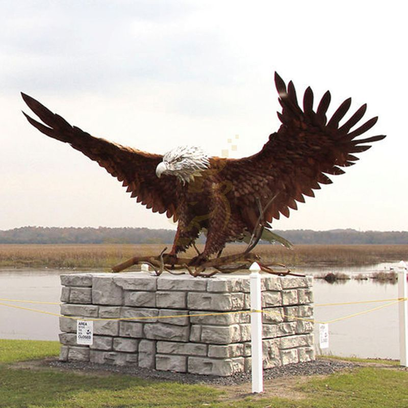 Factory Manufacturer Bronze Eagle Statue Animal Sculpture
