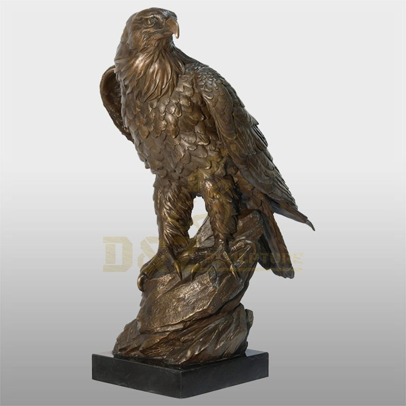Outdoor Decor Popular Cast Brass Hawk Beauty Eagle Sculpture
