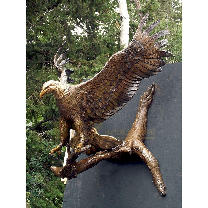 Landscape Garden Decorations Bronze Metal Large Brass Eagle Sculpture