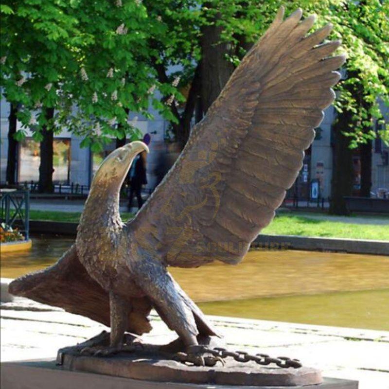 Manufactory Wholesale Bronze Metal Large Brass Eagle Sculpture