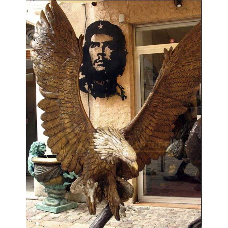 Outdoor Large Bronze Casting Eagle Bird Sculpture