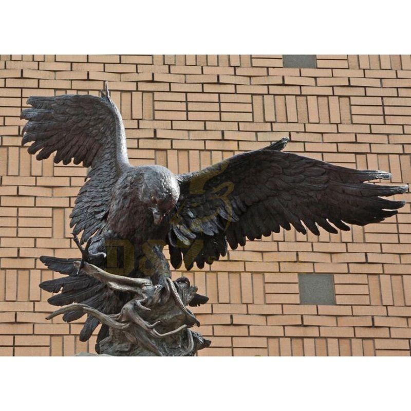 Hot Design Wings Brass Eagle Metal Art Sculpture