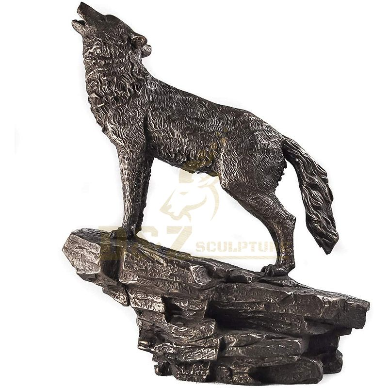 New Products Life Size Bronze Wolf Sculpture For Sale