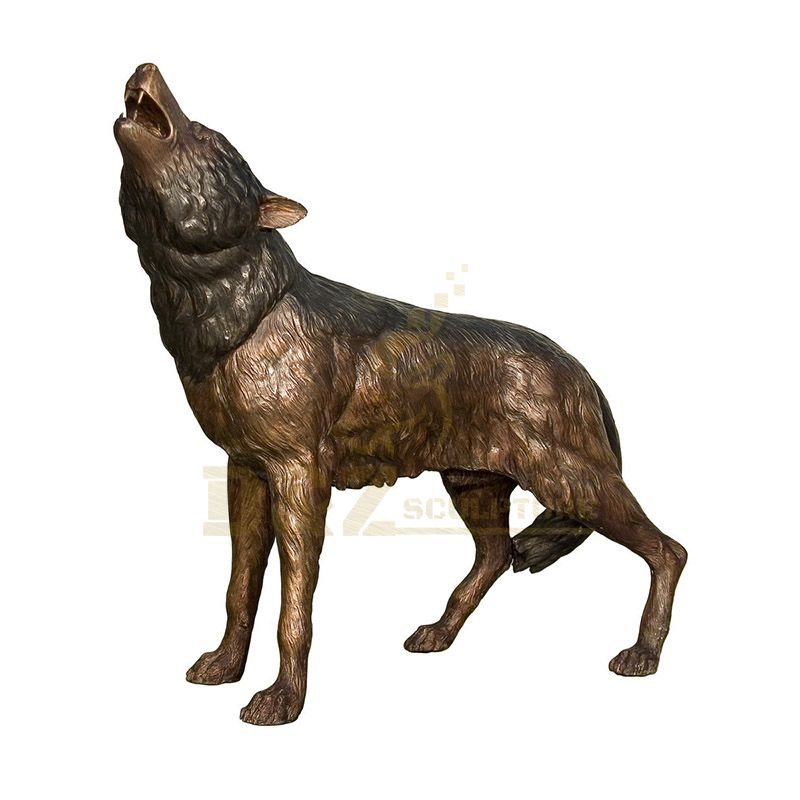 Bronze Wolf Sculpture For Sale Life Size Wolf Sculpture