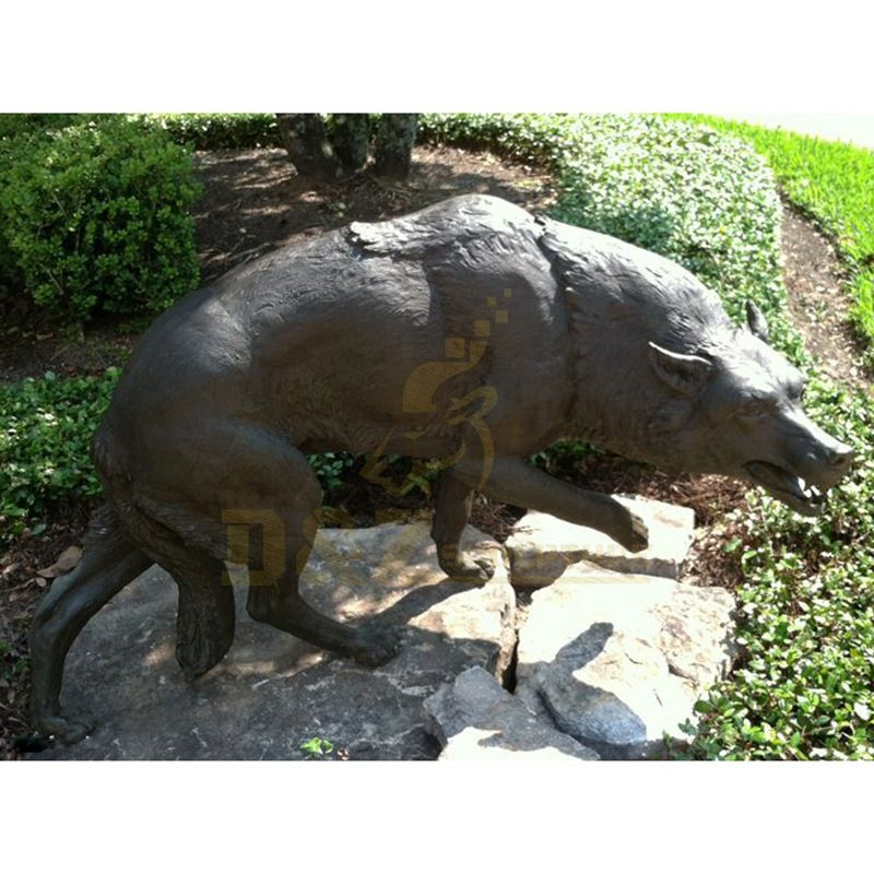 Outdoor Decoration Life Size Bronze Wolf Sculpture Statue