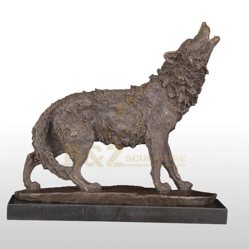 Home Indoor Decoration Life Size Bronze Wolf Art Sculpture