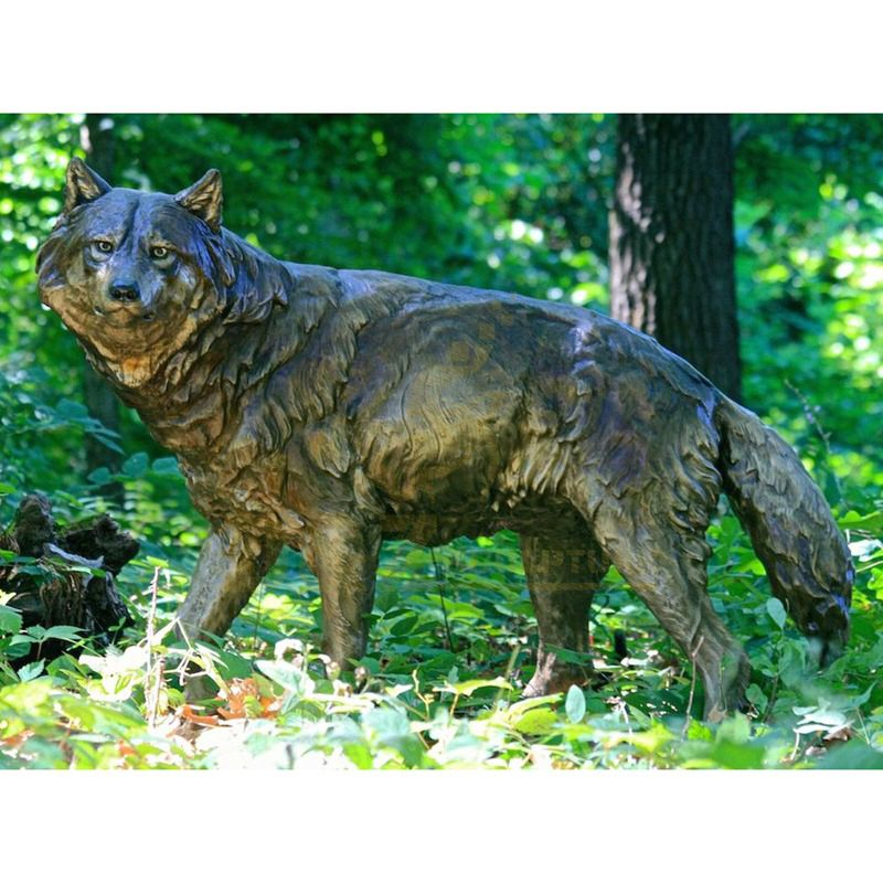 China Manufactory sculptures High quality the best art bronze wolf statue for outdoor