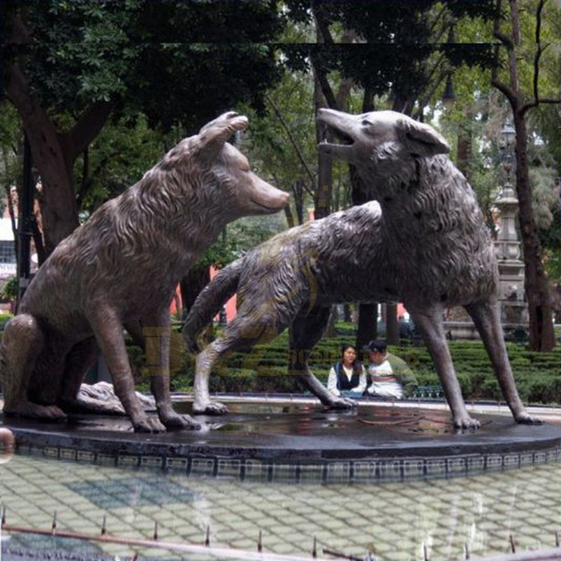 New Design Wildlife Animal Sculpture Life Size Bronze Wolf Statue For Sale