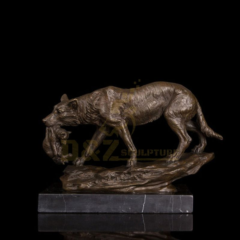 Bronze Life Size Wolf Statues Animal Sculptures
