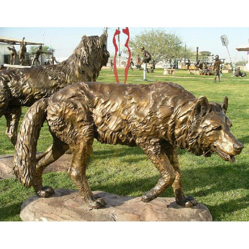 Hot Sale Garden Decoration Bronze Wolf Sculpture