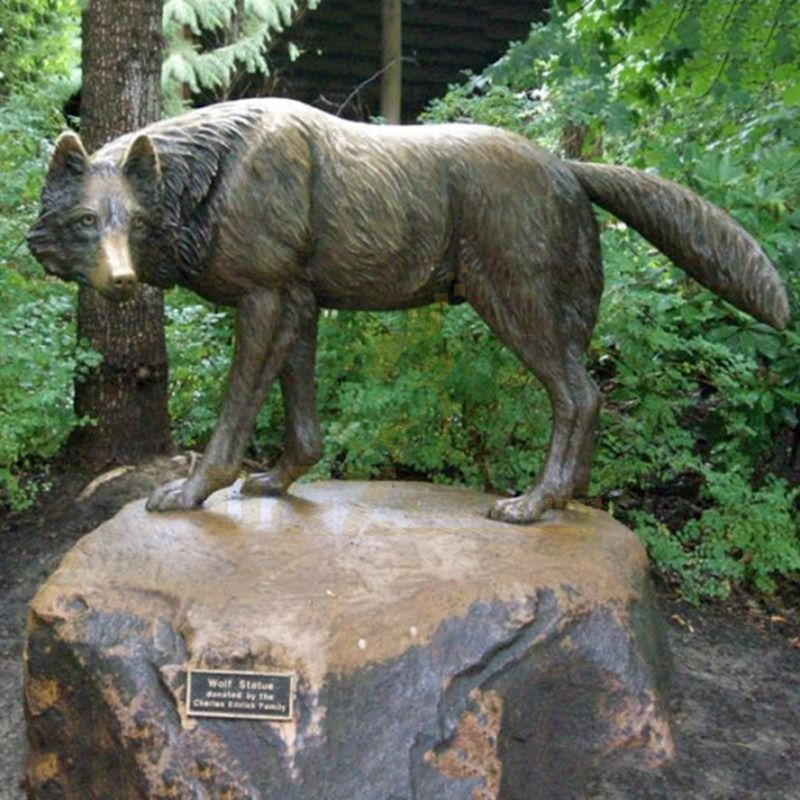 Factory Supply Bronze Statues Life Size Wolf Statue For Sale