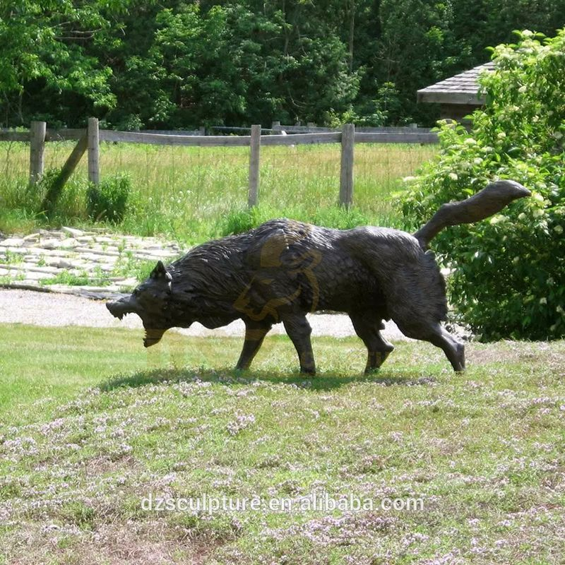 Customer Design Garden Decoration Life Size Bronze Sculpture Wolves