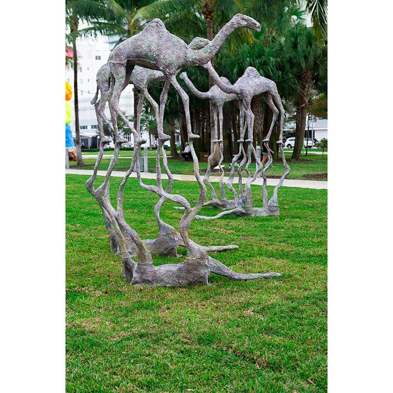 Large Outdoor Camel Ornament Statue Bronze Camel Sculpture