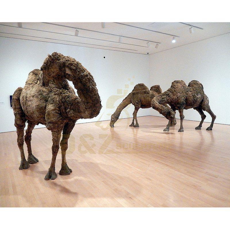 Garden Ornaments Metal Bronze Camel Statue Sculpture