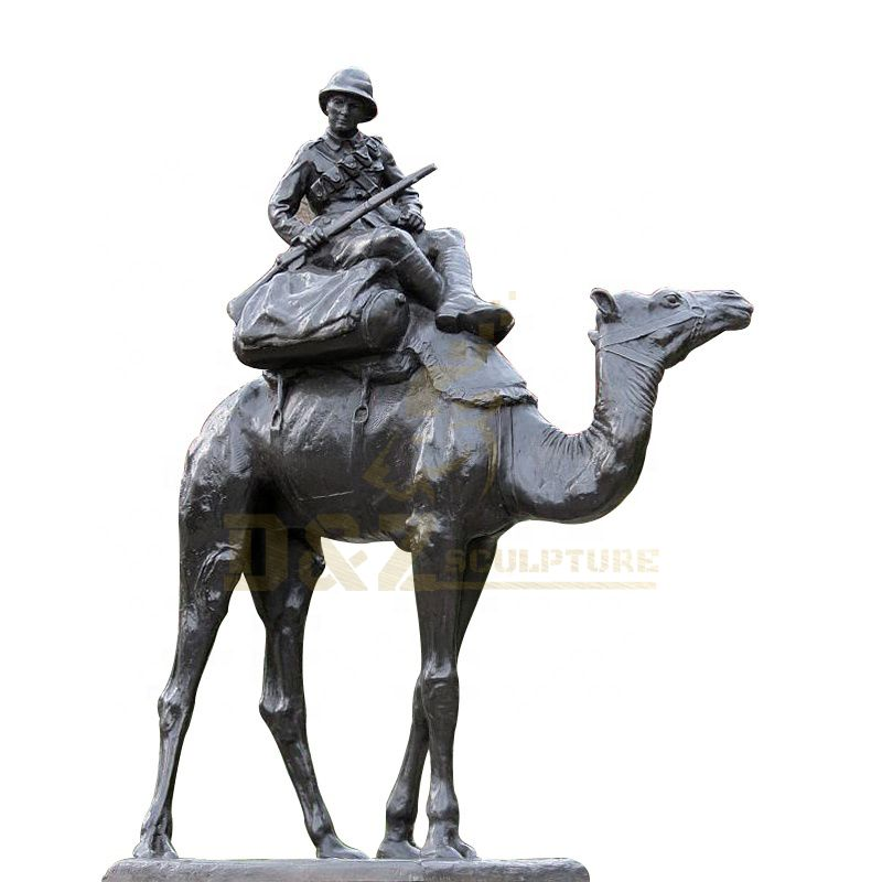 Garden Decoration Large Life Size Bronze Camel Statue Animal Sculpture