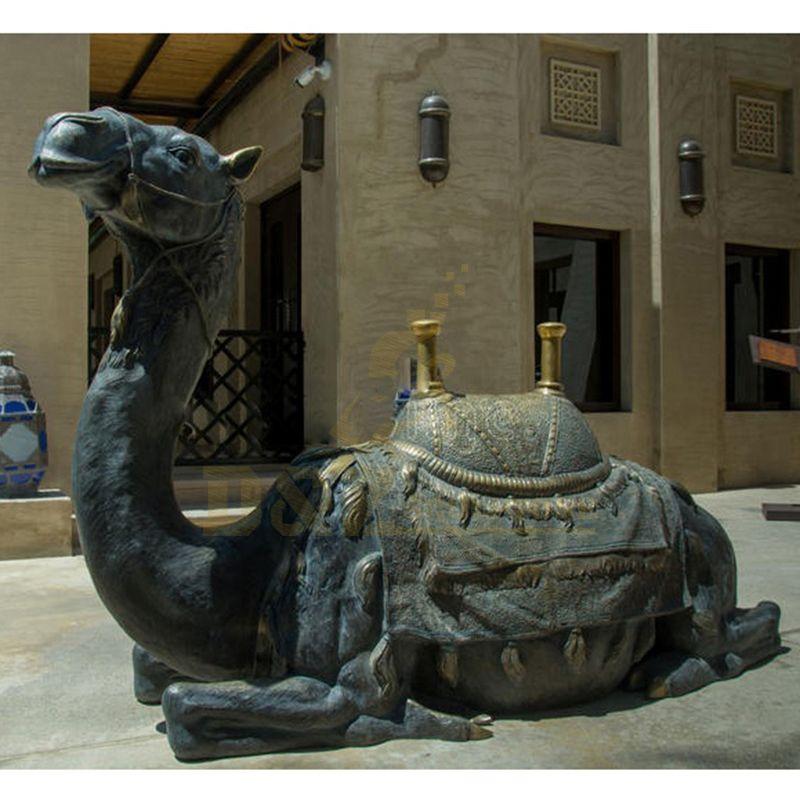 Bronze Art Foundry Outdoor Metal Bronze Garden Bronze Large Camel Statue