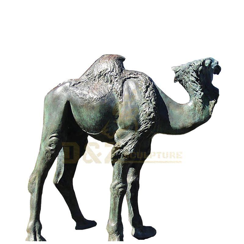 Outdoor Garden Decoration Life Size Brass Statue Bronze Camel Sculpture