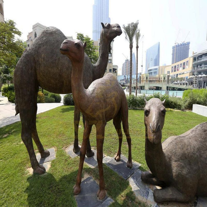 Custom Design Garden Decor Metal Bronze Camel Statue