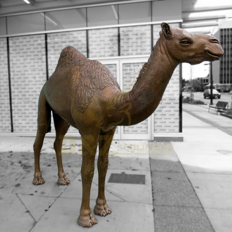 Customized Life Size Desert Camel Copper Sculpture