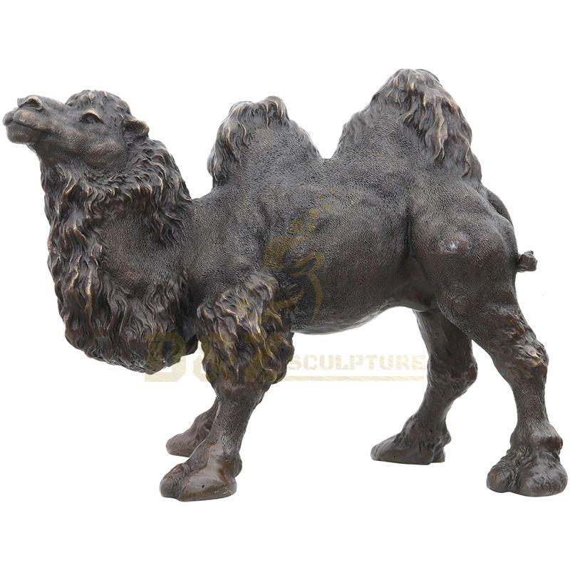 Outdoor Life Size Bronze Garden Statue Camel Sculpture