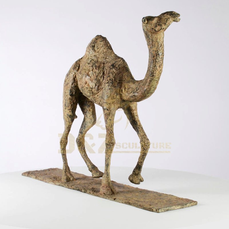 Outdoor Life Size Bronze Copper Camel Sculpture