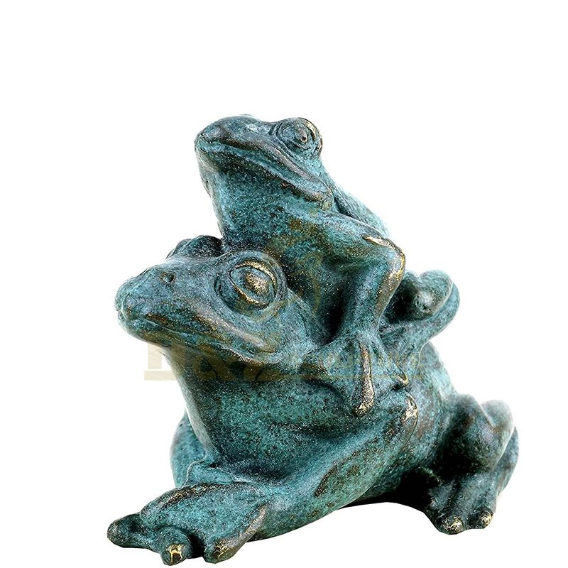 Life Size Handcraft Bronze Frog Sculpture For Outdoor Garden Decoration