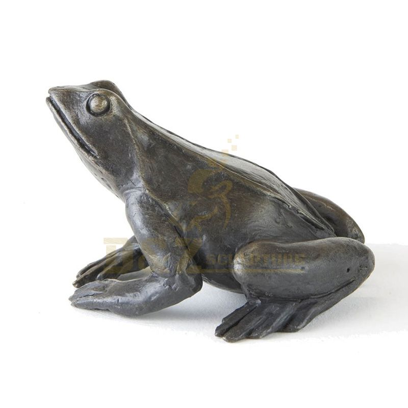 Handmade Home Decor Antique Bronze Animal Statue Frog Sculpture