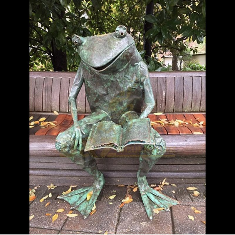 Decoration Life Size Bronze Ancient Animal Frog Statue