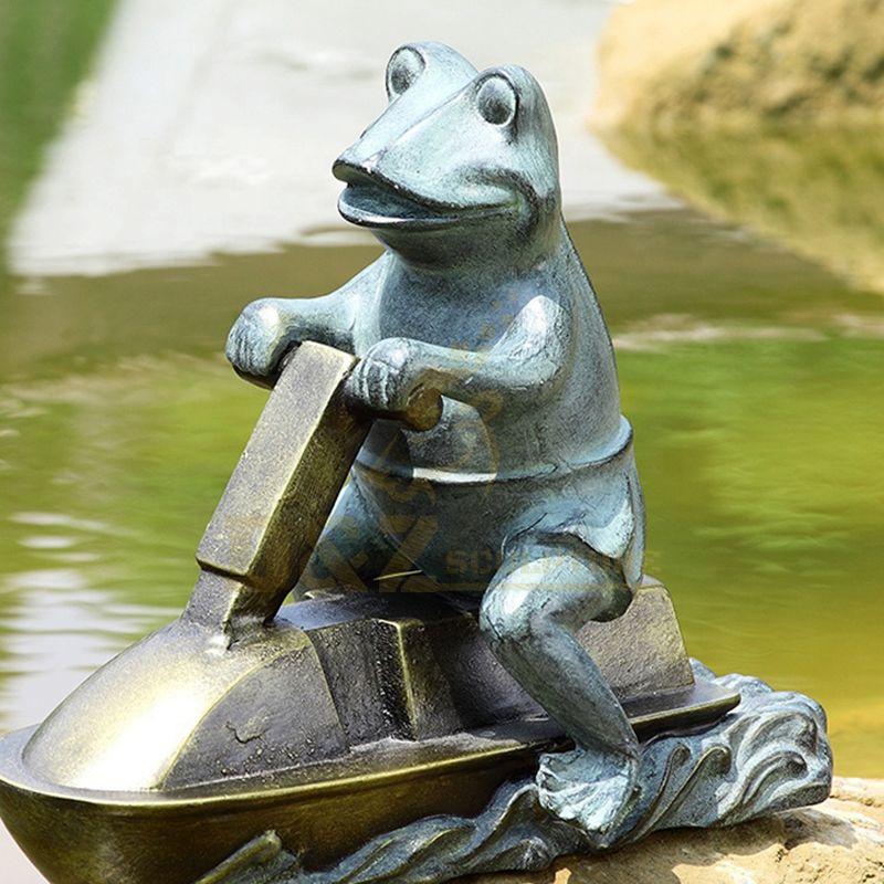 Garden Decor Bronze Description Whimsical Frog Garden Sculpture For Sale