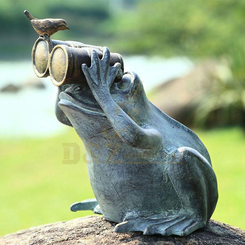 Outdoor Decoration Metal Casting Bronze Frog Garden Sculpture