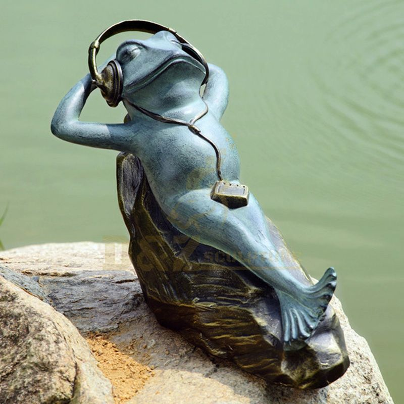 Factory Custom Made Garden Decoration Bronze Frog Statue