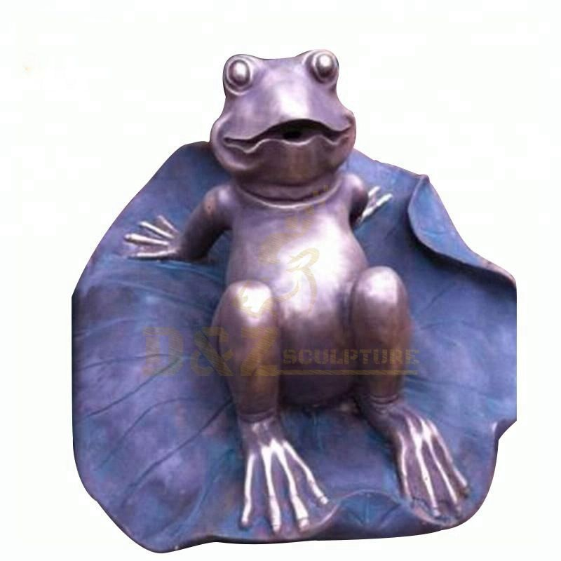 New Design Outdoor Decoration Life Size Bronze Frog Sculpture