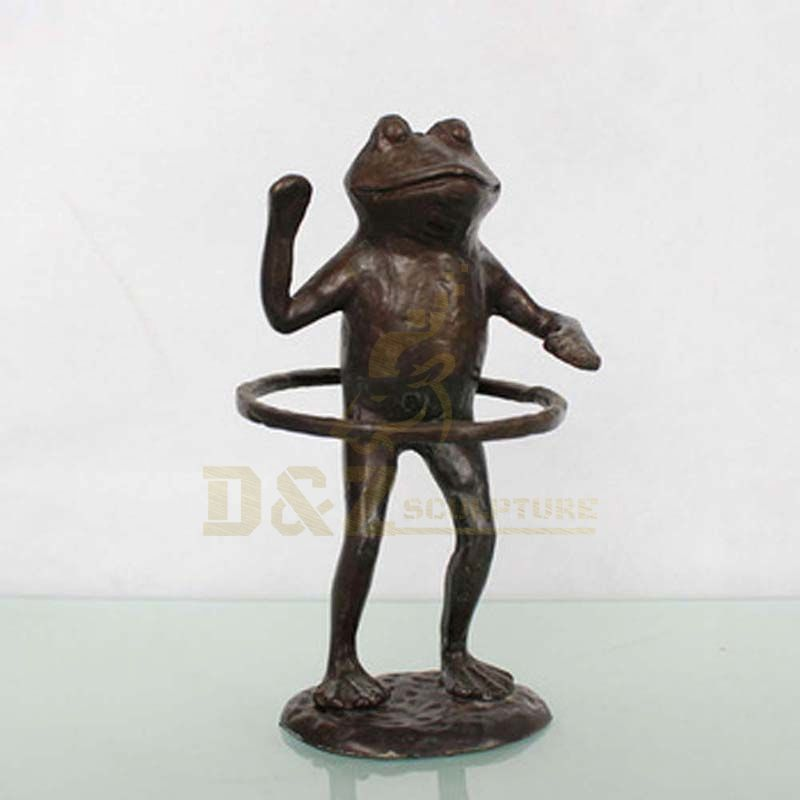Outdoor Decoration Metal Casting Bronze Garden Frog Statue sculpture
