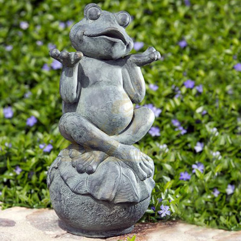 Best Quality Metal Bronze Cute Frog Sculpture