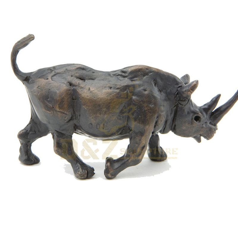 High Quality Metal Crafts Bronze Rhinoceros Sculpture