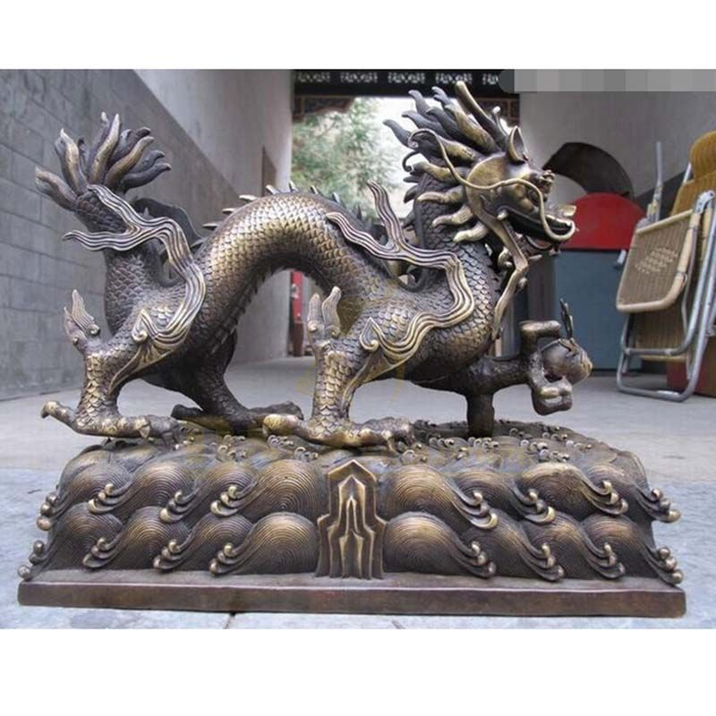 Brass Dragon statue Chinese Bronze Dragon Sculpture