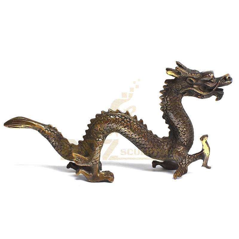 Outdoor Decoration Life Size Bronze Dragon Sculpture